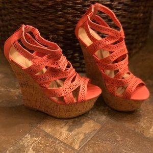 Coral Wedge heels